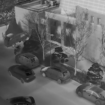 Surveillance by LWIR thermal infrared camera at night